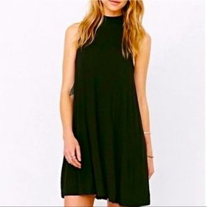 Topshop Mock Neck Sleeveless Swing Dress
